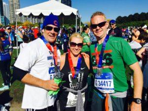 dr-craig-evans-dr-steve-harvery-family-chicago-marathon-2016